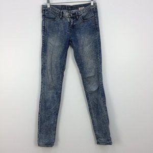 Madewell 37s Light Blue Acid Wash Skinny Jeans